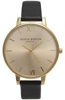 Olivia Burton Women's Big Dial Watch Black/Gold