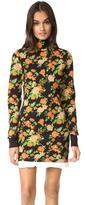 MSGM Floral Mock Neck Sweater Dress