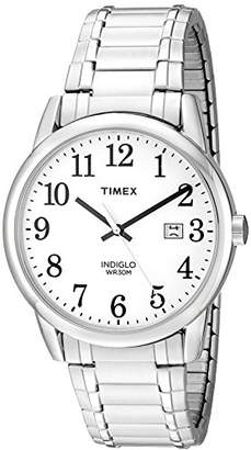 Timex Men's TW2P81300 Easy Reader Silver-Tone Stainless Steel Expansion Band Watch