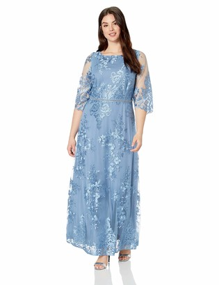 Brianna Women's Size Plus Long Embroideried Full SKT Gown