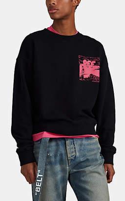 Off-White Men's Skeleton-Print Cotton Sweatshirt - Black