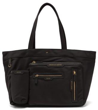 Anya Hindmarch Multi-pocket Recycled-fibre Tote Bag - Black