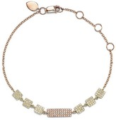 Meira T 14K Yellow Gold and Rose Gold Geometric Diamond Disc Bracelet