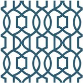 NuWallpaperTM Grand Trellis Peel & Stick Wallpaper in Navy