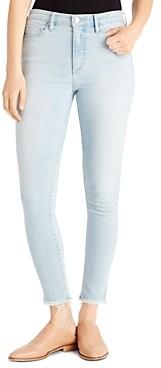 Ella Moss High-Rise Frayed Ankle Skinny Jeans in Rowan