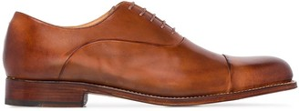 Grenson Bert hand-printed leather Derby shoes
