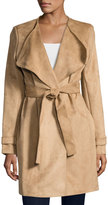 Via Spiga Faux-Suede Belted Trench, Camel