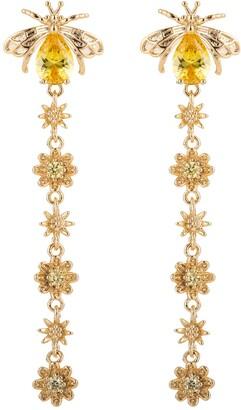 Eye Candy Los Angeles Aubrey Honey Bee CZ Crystal Drop Earrings