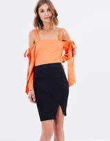 Miss Selfridge Foiled Bandage Skirt