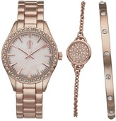 JLO by Jennifer Lopez Women's Crystal Watch & Bracelet Set
