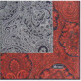 Brioni Floral-paisley silk pocket square