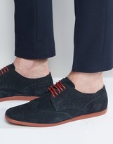 Base London Shore Suede Brogue Shoe
