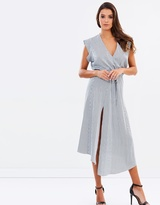 Shona Joy Drawstring Midi Dress