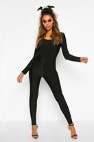 boohoo Marti Basic Long Sleeve Disco Catsuit black