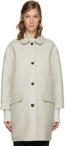 YMC Off-white Neoprene Wool Coat