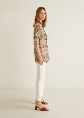 MANGO Print jacquard blazer