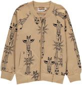 Mini Rodini Organic Cotton Zip-Up Totem Sweatshirt