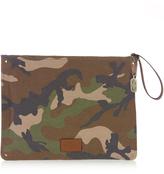 Valentino Camouflage-print canvas document holder