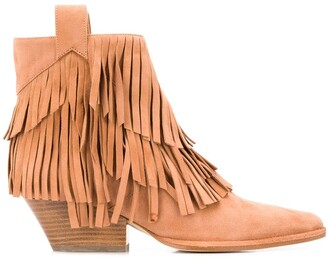 Sergio Rossi Fringed 55mm Boots