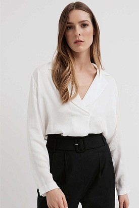 Witchery Drape Lapel Shirt