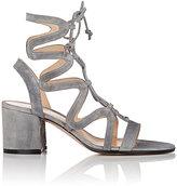 Gianvito Rossi Women's Artemis Suede Gladiator Sandals-GREY