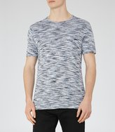 Reiss Reiss Beach - Tonal Stripe T-shirt In Blue