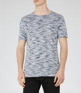 Reiss Reiss Beach - Tonal Stripe T-shirt In Blue, Mens