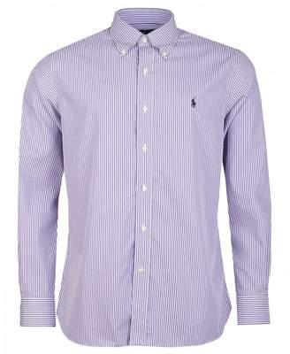 Polo Ralph Lauren Custon Fit Striped Collar Poplin Shirt Colour: Purpl