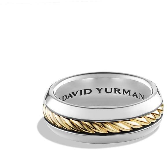 David Yurman Cable Classics Ring with 18K Gold