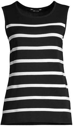 Misook Striped Knit Top