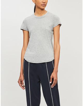 James Perse Marled semi-sheer cotton-jersey T-shirt