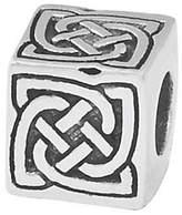 Celtic Prerogatives Sterling Silver Block Bead