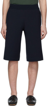 Bottega Veneta Navy Wide Shorts