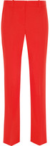 Givenchy Cropped Straight-leg Pants In Red Grain De Poudre Wool - FR38
