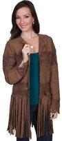 Scully Women's Lamb Suede Fringe Coat L124