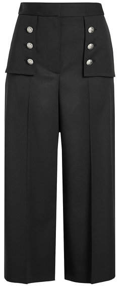Alexander McQueen Wool Culottes with Embossed Buttons