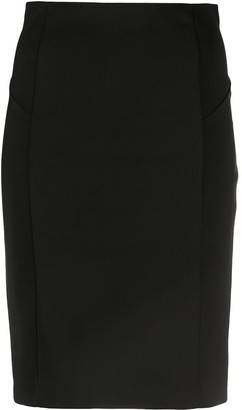 Patrizia Pepe Fitted Mini Pencil Skirt