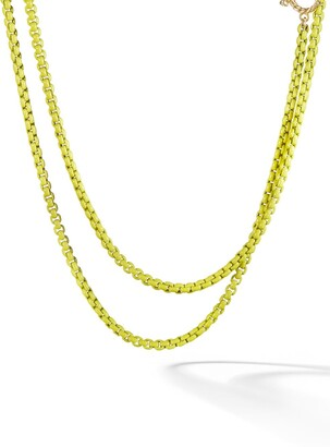 David Yurman 14kt yellow gold accented DY Bel Aire chain necklace