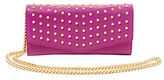 Brian Atwood Blake Studded Leather Clutch