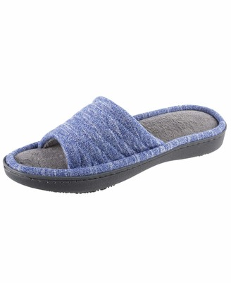 Isotoner Women's Space Dyed Andrea Slide Slipper with Moisture Wicking for Indoor/Outdoor Comfort and Arch Support Slipper
