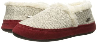 Acorn Moc Ragg (Grey Ragg Wool) Women's Slippers