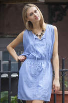 Gentle Fawn Chambray Open Shoulder Dress