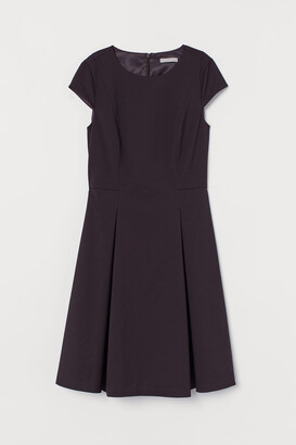 H&M Cap-sleeved Dress - Red
