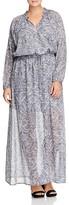 MICHAEL Michael Kors Hamilton Long Sleeve Maxi Dress