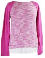 Tommy Hilfiger Women's Layered-Hem Sweater (S, Rose Violet)
