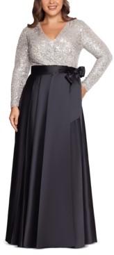 Xscape Evenings Plus Size Sequin-Top Ball Gown