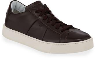 Santoni Men's Jannas Low-Top Leather Sneakers
