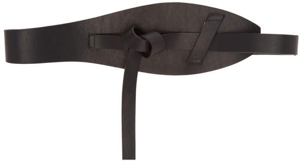 Ann Demeulemeester Black Leather Knot Belt