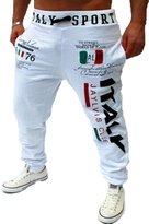 Mada Mens Casual Italian Flage Sports Pants Sweat Pant Asian X-Large Light