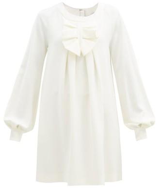 MSGM Ruffled Balloon-sleeve Crepe Dress - Ivory